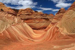 La vague de formation de sable navajo en arizona usa photo