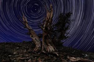 paysage peint de lumière de camping et d'étoiles photo