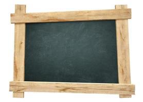 tableau noir cadre en bois photo