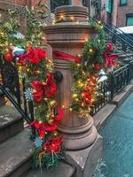 new york city à décorations de noël sur post photo