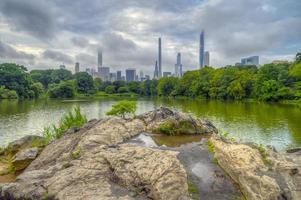 parc central, new york city au bord du lac photo