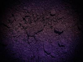 texture de terre sombre dans le jardin photo