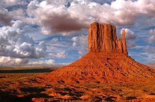 Monument Valley Utah connu sous le nom de mitaines photo