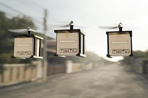 drone technologie ingénierie dispositif industrie volant dans la logistique industrielle exportation importation produit service de livraison à domicile logistique expédition transport transport ou voiture pièces automobiles rendu 3d photo
