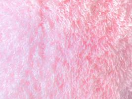 texture de tissu de fourrure de couleur rose photo