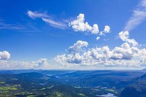 panorama de paysage de montagne aux beaux jours à vang norvège photo