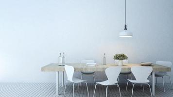 salle à manger dans la maison ou l'appartement photo