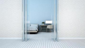 chambre et espace de travail dans un hôtel ou un appartement photo