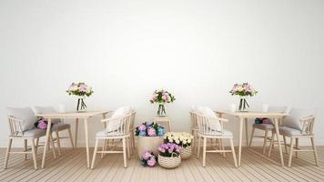 fleur de décoration de restaurant ou de café photo