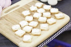 pain grillé avec du fromage photo