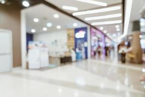 centre commercial de luxe flou abstrait et magasin de détail photo