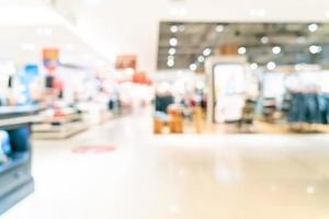 boutique de flou abstrait et magasin de détail dans un centre commercial photo