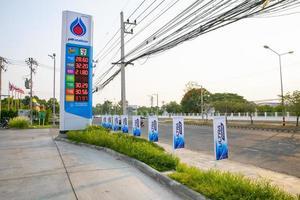 surin thailande 3 mai 2019 - station essence ptt. autorité pétrolière de thaïlande photo