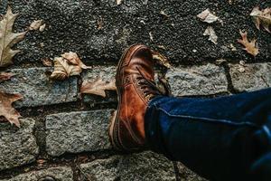 chaussures de démarrage en automne photo