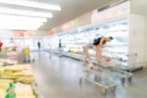 flou abstrait et supermarché défocalisé pour le fond photo
