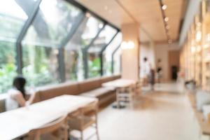 café et restaurant flou abstrait café et restaurant pour le fond photo
