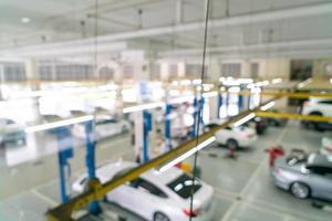 service de voiture de garage flou abstrait pour le fond photo