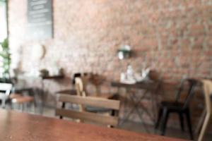 flou café ou café restaurant photo