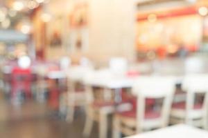 flou abstrait au restaurant pour le fond photo