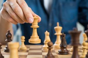 concept de stratégie d'échecs photo