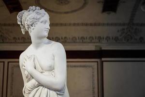 Détail de la statue de Vénus au musée du palazzo ducale photo