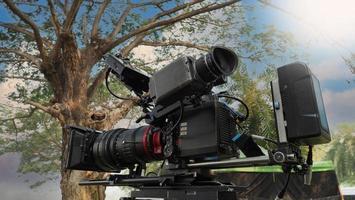derrière la caméra vidéo que pour l'enregistrement de film à l'extérieur. photo