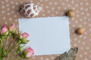 note vierge blanche photo