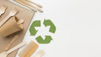 produits écologiques avec espace de copie photo