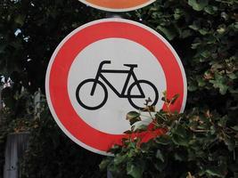 aucun signe d'entrée pour les vélos photo