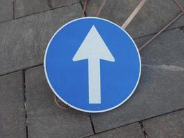 signe de flèche de direction photo