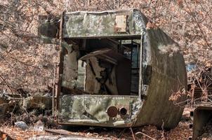 Pripyat, ukraine, 2021 - camion de l'armée remis à Tchernobyl photo