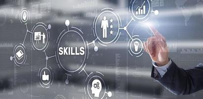 compétences apprentissage développement personnel finance compétence concept d'entreprise photo