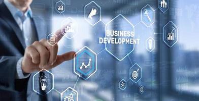 Développement des affaires. plan financier, stratégie, développement, processus, graphique, 3d, concept photo