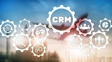 concept de service d'analyse de gestion de la gestion des clients commerciaux. gestion de la relation photo