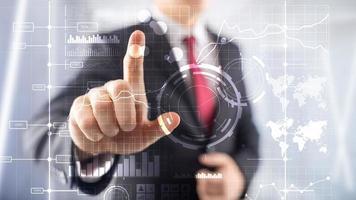 business intelligence bi indicateur de performance clé analyse kpi tableau de bord fond flou transparent photo