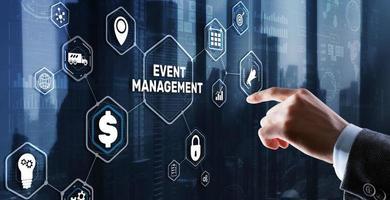 gestion d'événements. création et développement d'événements personnels et d'entreprise photo