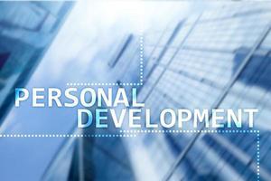 concept de développement personnel et de croissance de l'arrière-plan de la double exposition photo