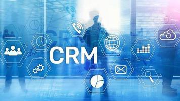 concept de service d'analyse de gestion de la gestion des clients commerciaux. gestion de la relation. photo