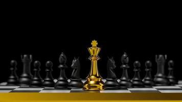 Rendu 3D différent pour le roi d'or de la compétition avec une intelligence stratégique pour votre entreprise de développement. photo
