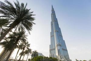 Dubaï, Émirats Arabes Unis, 7 mai 2015 - vue à Burj Khalifa à Dubaï. ce gratte-ciel est la plus haute structure artificielle jamais construite, à 828 m. photo