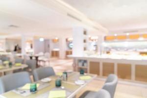 restaurant de l'hôtel flou abstrait photo