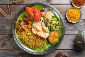 riz biryani avec prise photo