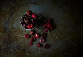 cerises fraîches photo