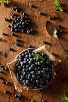 bleuets biologiques crus frais photo
