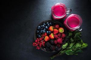 antioxydant toutes les baies smoothie aux fruits photo