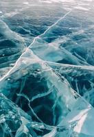 baikal d'hiver congelé photo