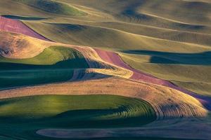 colline vallonnée et terres agricoles photo