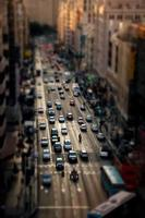 embouteillage madrid gran via photo