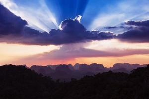 beau coucher de soleil photo