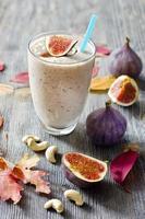smoothie aux figues et au cajou photo